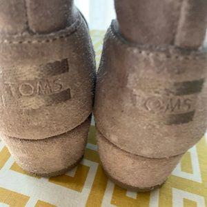 Girls Toms Desert Wedge Booties Size 3.5